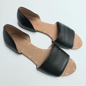 Madewell The Thea Open Toe Flat Leather Sandal